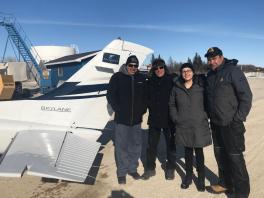 Chief Andrew Solomon, Julian Falconer, Jennifer Sutherland, and Glen Sutherland