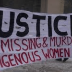 justice for missing and murdered indigenous women banner
